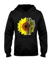 I Was Born To Be A Teacher Shirt Sunflower Gifts Hooded Sweatshirt thumbnail