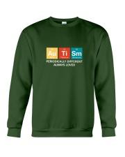Autism themed shirt funny disabilty pun family Crewneck Sweatshirt thumbnail