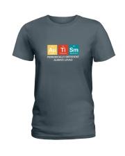 Autism themed shirt funny disabilty pun family Ladies T-Shirt thumbnail