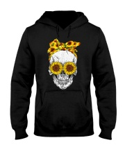 sunflower skull sunflower bow skulls love Hooded Sweatshirt thumbnail