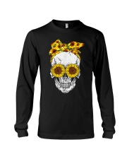 sunflower skull sunflower bow skulls love Long Sleeve Tee thumbnail