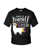 Always be yourself a Llamacorn T Shirt Youth T-Shirt thumbnail