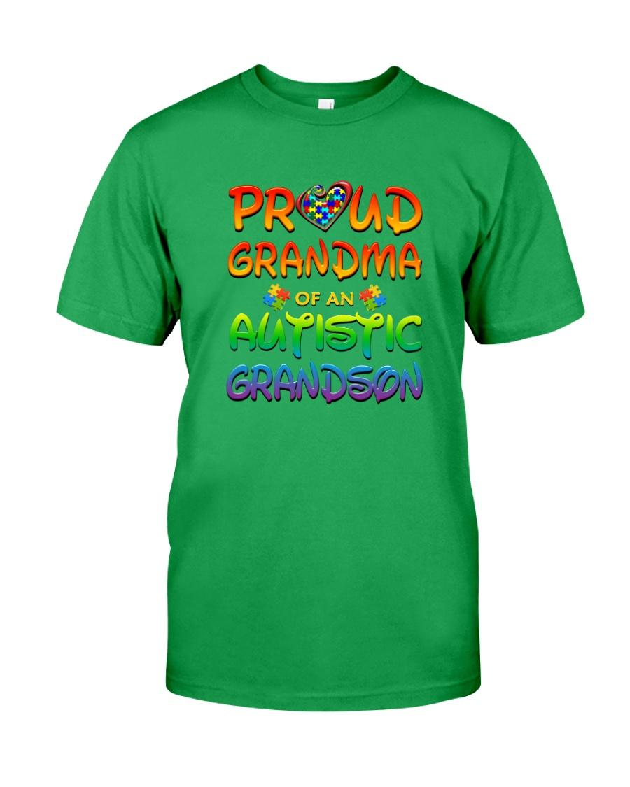 Autism proud grandma of autistic grandson Classic T-Shirt