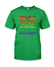 Autism proud grandma of autistic grandson Classic T-Shirt front