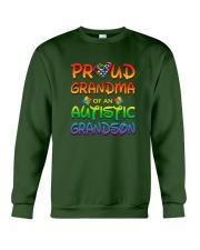 Autism proud grandma of autistic grandson Crewneck Sweatshirt thumbnail