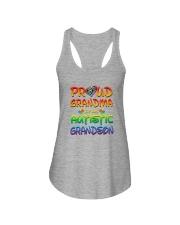 Autism proud grandma of autistic grandson Ladies Flowy Tank thumbnail
