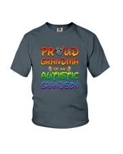 Autism proud grandma of autistic grandson Youth T-Shirt thumbnail