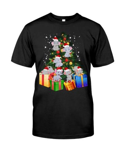 Elephant Christmas Tree Shirt Elephant Christmas