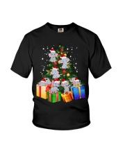 Elephant Christmas Tree Shirt Elephant Christmas Youth T-Shirt thumbnail