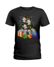 Elephant Christmas Tree Shirt Elephant Christmas Ladies T-Shirt thumbnail