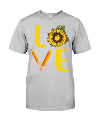 Teacher Love Sunflower