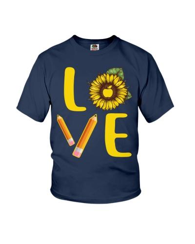 Teacher Love Sunflower