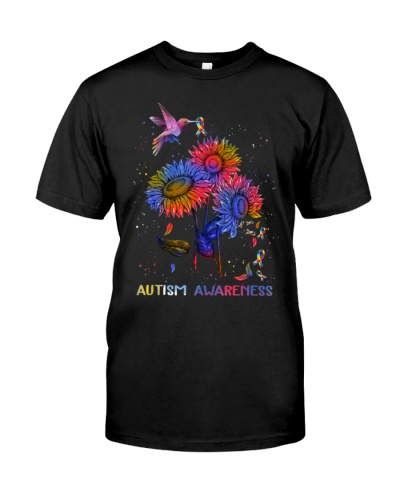 Autism Awareness Hummingbird
