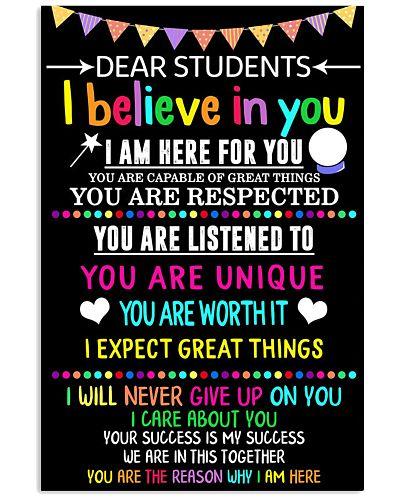 Teacher Student Dear Believe Poster