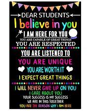 Teacher Student Dear Believe Poster 11x17 Poster front