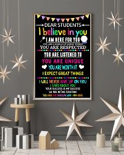 Teacher Student Dear Believe Poster 11x17 Poster lifestyle-holiday-poster-1
