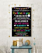 Teacher Student Dear Believe Poster 11x17 Poster lifestyle-holiday-poster-3