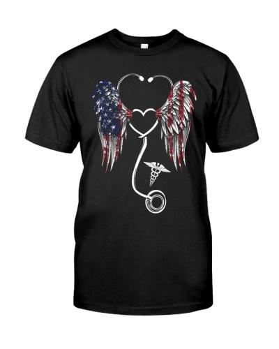 Nurse Flag Heart