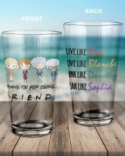Golden Thank You For Being Friend Glass 16oz Pint Glass aos-16oz-pint-glass-lifestyle-front-17