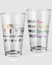 Golden Thank You For Being Friend Glass 16oz Pint Glass front