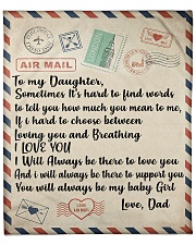 "To My Daughter Love Dad Blanket Fleece Blanket - 50"" x 60"" thumbnail"