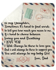 "To My Daughter Love Dad Blanket Sherpa Fleece Blanket - 50"" x 60"" thumbnail"