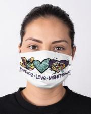 Peace Love Nightmare Cloth face mask aos-face-mask-lifestyle-01