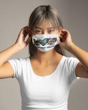 Peace Love Nightmare Cloth face mask aos-face-mask-lifestyle-16