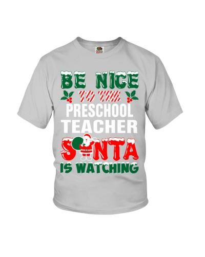 Preschool Teacher Santa Watching