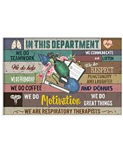 Respiratory Therapist Department Poster 17x11 Poster front