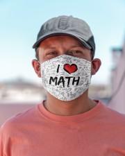 Math Love Mask Cloth face mask aos-face-mask-lifestyle-06