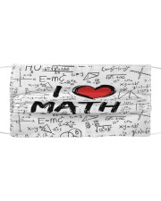 Math Love Mask Cloth face mask front