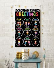Class Social Distancing Poster 11x17 Poster lifestyle-holiday-poster-3