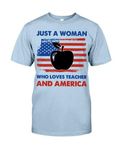 Teacher Woman Love America