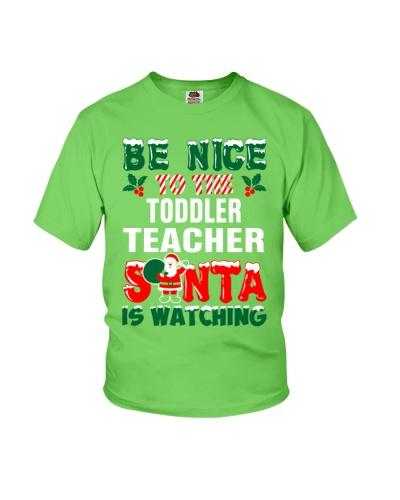Toddler Teacher Santa Watching