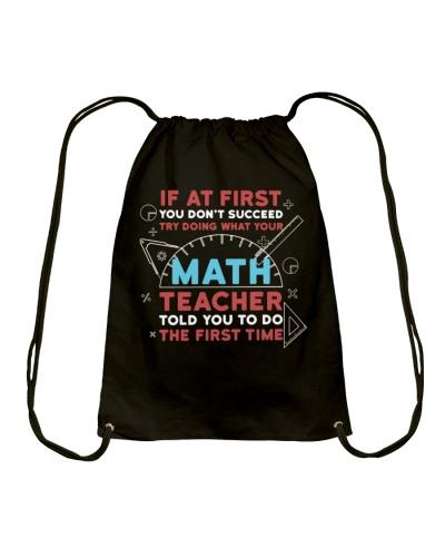 Math Teacher First Time