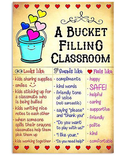 Teacher Bucket Filling Classroom Poster