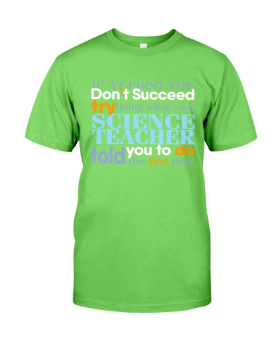 Science Teacher Fist Time