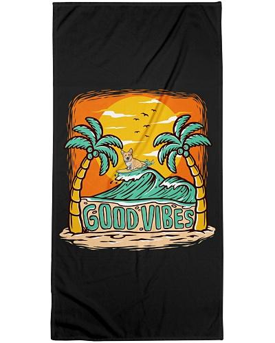 Good vibes Corgi Surfing Summer Mask and more