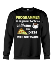 Turns caffeine and pizza into software Crewneck Sweatshirt thumbnail