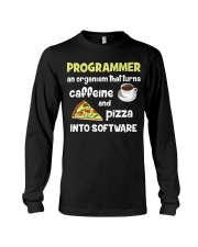 Turns caffeine and pizza into software Long Sleeve Tee thumbnail