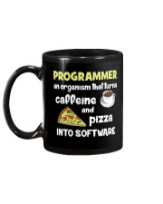Turns caffeine and pizza into software Mug back