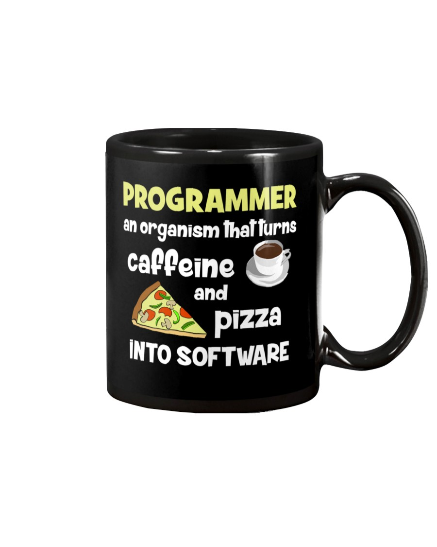 Turns caffeine and pizza into software Mug