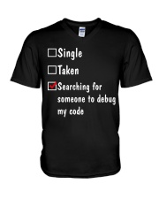 Search for someone to debug my code V-Neck T-Shirt thumbnail