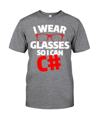 I wear glasses so i can Csharp