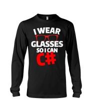 I wear glasses so i can Csharp Long Sleeve Tee thumbnail