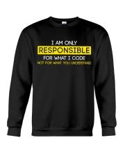 Programmer Responsible Crewneck Sweatshirt thumbnail