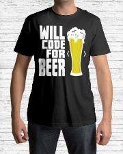 Will code for beer Classic T-Shirt lifestyle-mens-crewneck-front-1