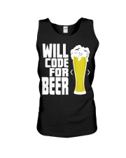 Will code for beer Unisex Tank thumbnail