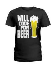 Will code for beer Ladies T-Shirt thumbnail